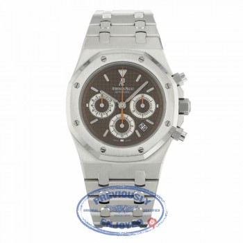 Audemars Piguet Royal Oak Chronograph Stainless Steel Brown Dial 26300ST.OO.1110ST.08 6VR4P8 - Beverly Hills Watch Company