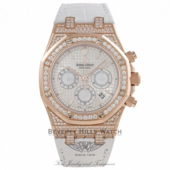 Audemars Piguet Royal Oak Chronograph 39MM Automatic 18k Rose Gold Diamond Case Bezel 26127OR.ZZ.D011CR.01 ZFL6AR - Beverly Hills Watch Company Watch Store