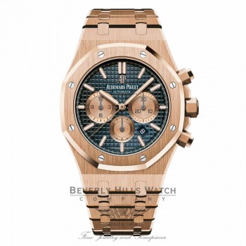 Audemars Piguet Royal Oak Grande Tapisserie Dial 18K Rose Gold 26331OR.OO.1220OR.01 9NPWD1 - Beverly Hills Watch