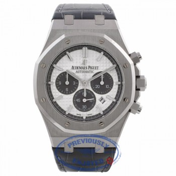 Audemars Piguet Royal Oak Chronograph Titanium 41MM QE II Cup 2015 Limited Edition 26327TI.OO.D0044CA.01 5J1Q5V - Beverly Hills Watch Company Watch Store