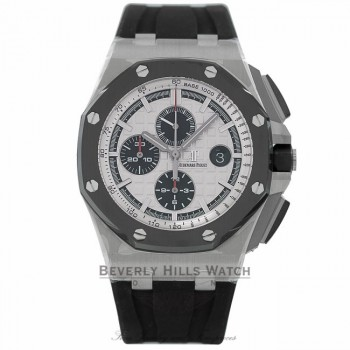 Audemars Piguet Royal Oak Offshore Chronograph 44mm Stainless Steel Case Ceramic Bezel 26400SO.OO.A002CA.01 HT73ZY - Beverly Hills Watch Company Watch Store