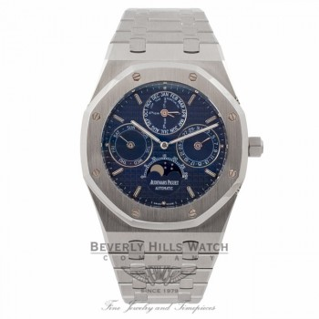 Audemars Piguet Royal Oak Perpetual Calendar Moonphase 39MM Blue Dial 25820ST.OO.0944ST.05 6R70HD - Beverly Hills Watch Company Watch Store