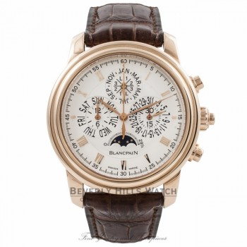 Blancpain Le Brassus Perpetual Calendar Chronograph 42MM 18k Rose Gold 4286P-3642A-55 1N6YAP - Beverly Hills Watch Company Watch Store