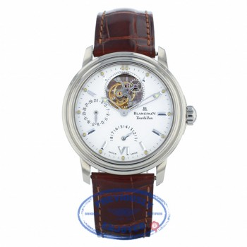 Blancpain Leman Tourbillon Eight Day Power Reserve White Gold Watch 2125152753 NXNK6Z - Beverly Hills Watch Company