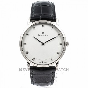 Blancpain Villeret Ultra Thin White Gold Watch 4053-1542-55B Beverly Hills Watch Company
