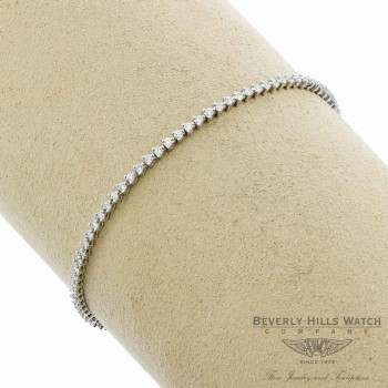 Naira & C Classic White Gold Diamond Tennis Bracelet 7549JX - Beverly Hills Watch