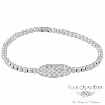 Designs by Naira 18K White Gold Oval Diamond Bracelet OM-CCM10219/03EL/B 30UPA4 - Beverly Hills Jewelry Store