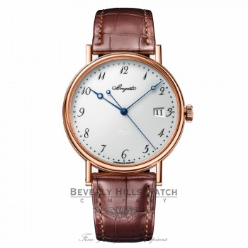 Breguet Classique Automatic White Dial 38mm 18kt Rose Gold 5177BR/29/9V6 T59KUN - Beverly Hills Watch