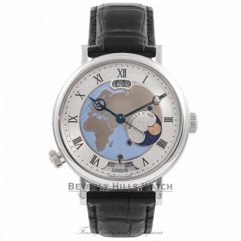 Breguet Classique Hora Mundi 44MM Platinum 55 Hour Power Reserve 5717/PT/EU/9Z AJSWVF - Beverly Hills Watch Company Watch Store