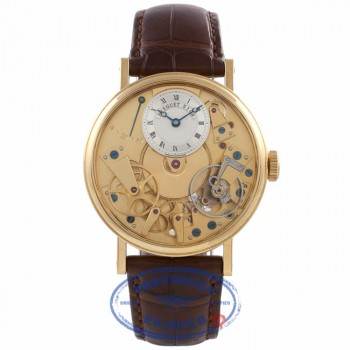 Breguet La Tradition 18k Rose Gold Skeleton Dial Alligator Strap 7027BA/11/9V6 778369 - Beverly Hills Watch Company Watch Store