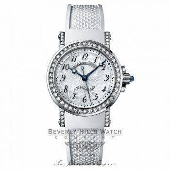 Breguet Marine Mother of Pearl 18kt White Gold Rubber 8818BB/59/564.DD00 3EMK1F - Beverly Hills Watch
