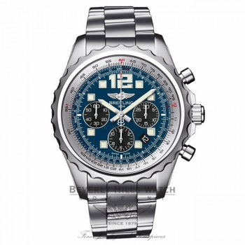 Breitling Chronospace Professional III Blue Dial 46MM Stainless Steel A2336035/C833 HLM6EW - Beverly Hills Watch Company Watch Store