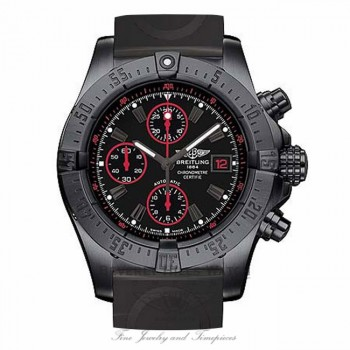 Breitling Avenger Black Steel Rubber Strap Limited Edition M133802C/BC73 jal1df - Beverly Hills Watch Company