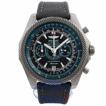 Breitling Bentley Supersports Chronograph Light Body 49MM Titanium Green Black Dial Green Strap E2736536/BB37 0MQ91E - Beverly Hills Watch Store