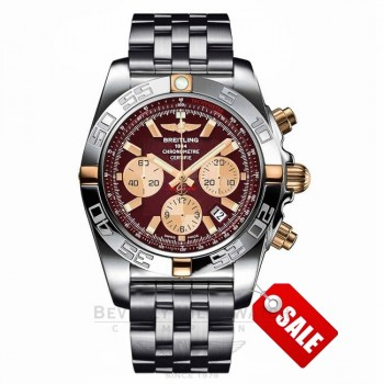 Breitling Chronomat 44 Stainless Steel Rose Gold Automatic IB011012/K524 2GPB3X - Beverly Hills Watch Company Watch Store