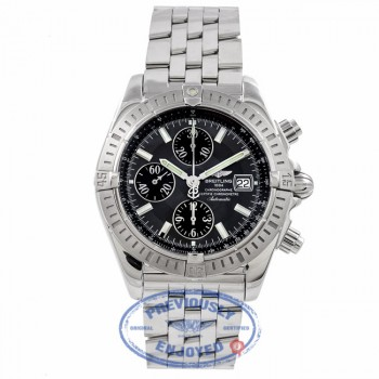 Breitling Chronomat Evolution Stainless Steel Slate Grey Dial A1335611/F517