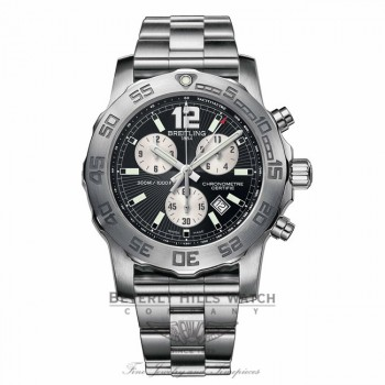 Breitling Colt Chronograph II Stainless Steel Black Dial A7338710/BB49 - Beverly Hills Watch Company Watch Store