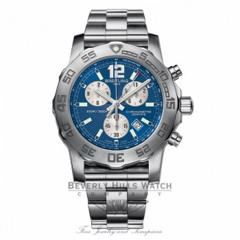 Breitling Colt Chronograph II Stainless Steel Blue Dial A7338710/C848 - Beverly Hills Watch Company Watch Store