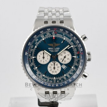 Breitling Watches Navitimer Heritage Stainless Steel Black Dial Watch A3535024/b554-SS Beverly Hills Watch Company Watches