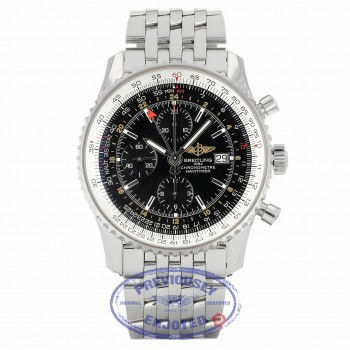 Breitling Navitimer World 46mm Stainless Steel Bracelet Black Dial A2432212/B726 C6ZYUQ - Beverly Hills Watch Company