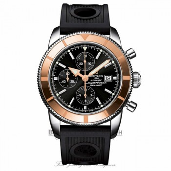 Breitling Superocean Heritage Chronograph Stainless Steel Rubber Strap U1332012/B908 6T2UP2 - Beverly Hills Watch Company Watch Store