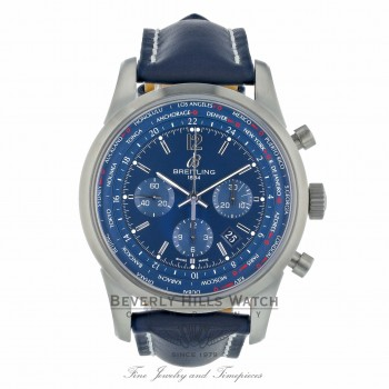 Breitling Transocean Chronograph Unitime 46MM AB0510U9/C879-101X D681FT - Beverly Hills Watch Company