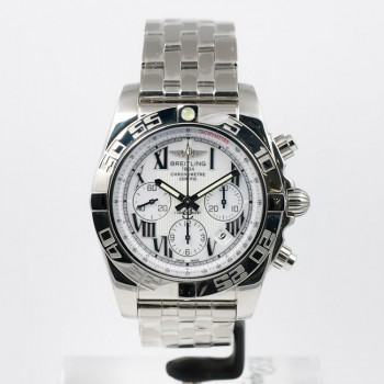 Breitling Chronomat B01 Stainless Steel Polished Bezel AB011012/A690-pilot-steel