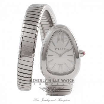 Bvlgari Serpenti Single Twirl 35MM Stainless Steel SP35C6SS.1T U0CA76 - Beverly Hills Watch Company