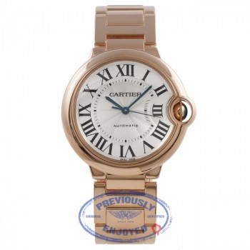 Cartier Ballon Bleu Medium 36mm Rose Gold W69004Z2 DPZR0F - Beverly Hills Watch Company Watch Store