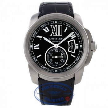 Cartier Calibre De Cartier 42MM Automatic Stainless Steel Black Dial W7100014 U0YQJ7 - Beverly Hills Watch Company Watch Store