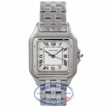 Cartier Panthere Midsize 27MM Stainless Steel Silver Dial Bracelet 1310 5I42C1 - Beverly Hills Watch Company Watch Store