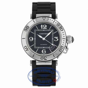 Cartier Pasha Seatimer Steel Rubber W31077U2 Y8NFH4 - Beverly Hills Watch Company