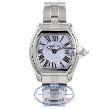 Cartier Roadster Small Ladies Blue Mother of Pearl Dial W6206007 WWHACP - Beverly Hills Watch Company Watch Store
