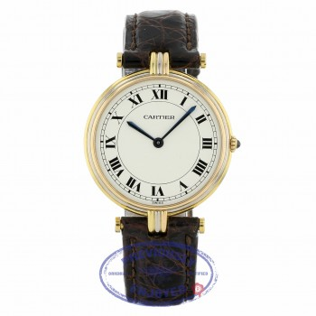 Cartier Vendome Large Tri-Color White Dial Black Roman Quartz 30mm 1MHZ7C - Beverly Hills Watch