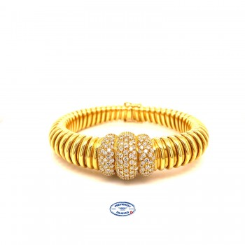 Cartier Vintage 18K Yellow Gold Tubogas Bracelet M7A3XU - Beverly Hills Watch and Jewelry Store
