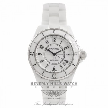 Chanel J 12 White Ceramic 38MM Automatic White Dial H0970 WIUJQK - Beverly Hills Watch Company Watch Store