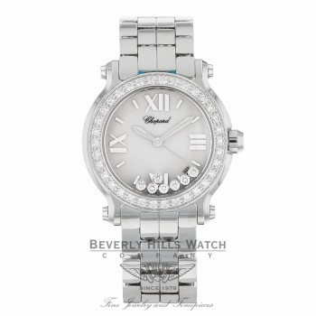 Chopard Happy Sport Floating Diamonds 36mm Stainless Steel 278478-2001 R02JKK - Beverly Hills Watch