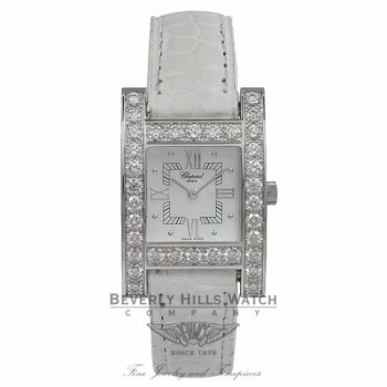 Chopard Lady H Watch White Gold Diamond Bezel Watch 13-6621