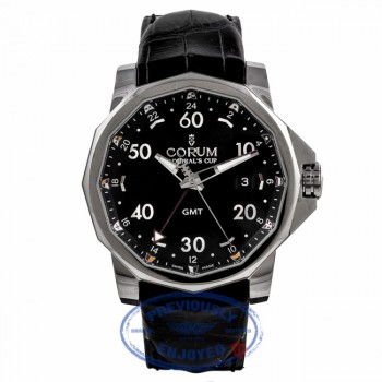 Corum Admiral Cup GMT 44mm Stainless Steel Alligator Strap 01.0055 V25TZJ - Beverly Hills Watch Company
