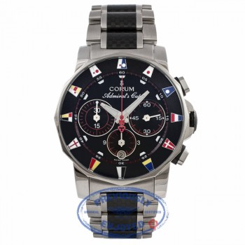Corum Admirals Cup 2005 Limited Edition Stainless Steel Black Dial Carbon Fiber Bracelet Watch 60420.01561 Beverly Hills Watch Company Watches