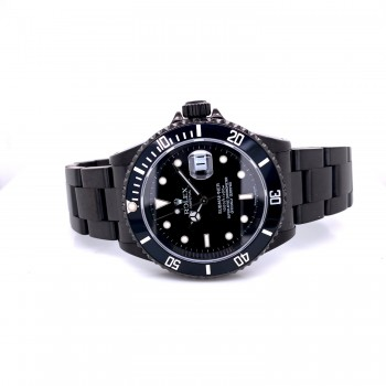 Rolex Submariner Classic 40mm Black Out 16610 DMRSW6 - Beverly Hills Watch Company