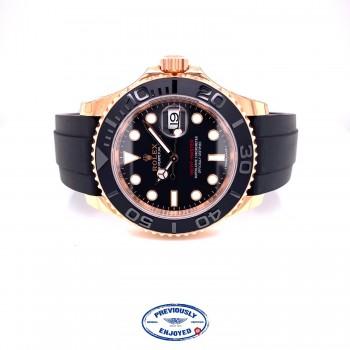 Rolex Yacht-Master 40mm Everose Oysterflex 116655 DQQ0K8- Beverly Hills Watch Company