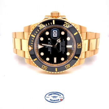 Rolex Submariner Yellow Gold Black Dial Ceramic Bezel 116618LB EPFJH9 - Beverly Hills Watch Company