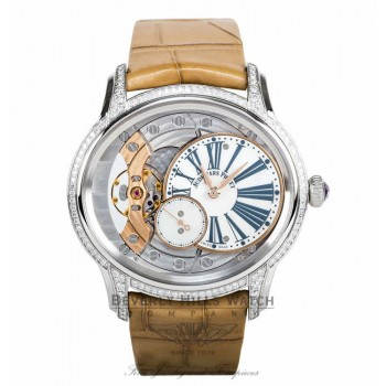 Audemars Piguet Millenary White Mother Of Pearl Dial Hand Wind 77247BC.ZZ.A813CR.01 - Beverly Hills Watch
