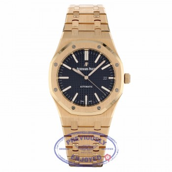 Audemars Piguet Royal Oak 41MM Rose Gold Black Dial 15400OR.OO.1220OR.01 N072WW - Beverly Hills Watch Company