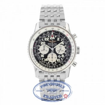 Breitling Cosmonaute Chronograph 42MM Stainless Steel Automatic Black Dial A2232212/B567 4VLV83 - Beverly Hills Watch Company