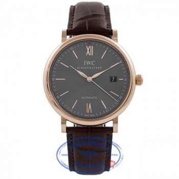 IWC Portofino 40MM 18k Rose Gold Grey Dial IW356511 - Beverly Hills Watch