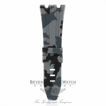 Horus Graphite Rubber Strap for Audemars Piguet 42mm Tang Buckle U4XH2R U4XH2R - Beverly Hills Watch Company