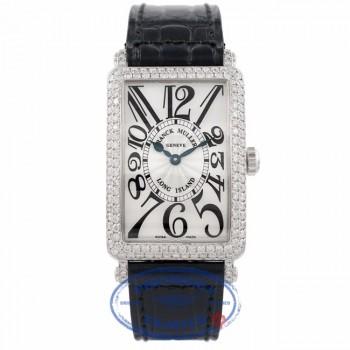 Franck Muller 18K White Gold Long Island Ladies Medium Size Diamond Case 952QZD 5SNNQH - Beverly Hills Watch Company Watch Store