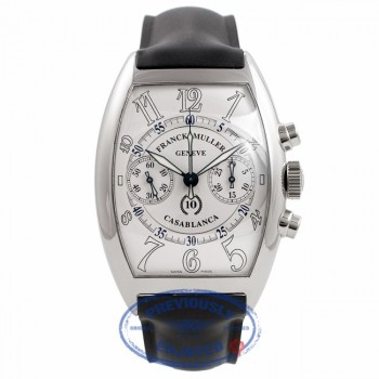 Franck Muller Casablanca Chronograph White Dial Stainless Steel 40MM 8880.CC.C R6RSRB - Beverly Hills Watch Company Watch Store